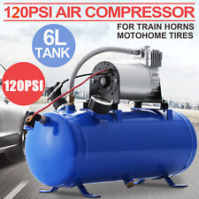 12V Train Truck Horn 120 PSI 6L Air Compressor with Pressure Switch