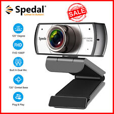 120° Wide Angle Webcam Full HD 1080P Team Meeting Usb Web Cam with Microphone