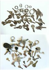 Collection of old keys and split rings Volvo Versa VW WMS Union ETAS etc