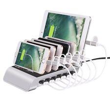 6 puertos USB cargador de múltiples Estación de carga rápida de Soporte para Teléfono Android & iOS