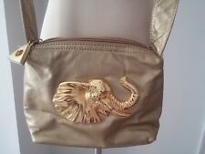 Dawli VTG Gold Genuine Leather Elephant Head Crossbody  Purse