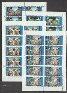 s37348 VATICANO MNH** 2000 Cappella Sistina III 4v MS