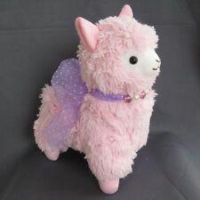 "NEW Japan Amuse Arpakasso Alpacasso pink Alpaca 14"" Plush Doll"