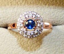 Burmese Sapphire Rose Gold Ring  - beautiful