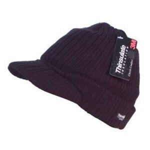 Unisex Beanie Peaked Cap Winter Thinsulate Warm Thermal Peak Hat One Size