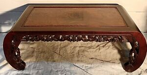 Asian Kang Table With Burl Top 19th Century
