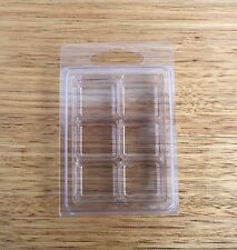 x25 qty 6 CAVITY CLAMSHELL - mold mould blister pack for soy wax candle melts