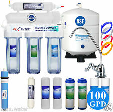 5 Stage 100 GPD Reverse Osmosis system PLUS Extra Set Of Replacement Filters.