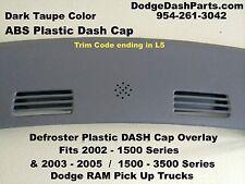 DODGE Ram Defroster Dash Cap Hard Cover Fits 02-05 P/U Truck Color / Dark Taupe
