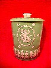Vintage George W. Horner & Company England Round Tin Canister RARE Angel Cherub
