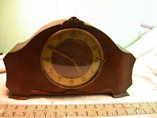 Antique Junghans German Mantle clock rare case design Perfect time and chimes