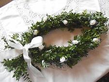 Hochzeit Buchsbaumfisch natur echt auch für Kommunion Konfirmation 28 x 58 cm