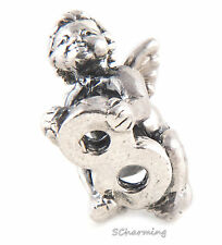 Authentic Trollbeads Silver Cherub Number 8   11322-08 List $56