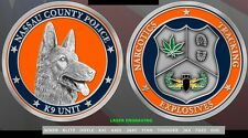 Nassau County Police NCPD Law Enforcement K9 Canine Challenge Coin