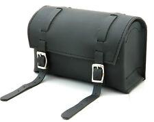 Vintage leather Bicycle Saddle bag Racer bike Tools kit Black box tool bag New