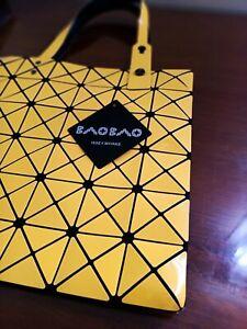 ISSEY MIYAKE Bright Yellow Triangle Bao Bao Tote bag NEW with Tag
