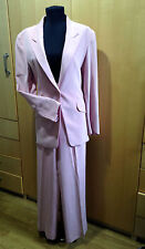 Paul Costelloe Pink Washed Silk Trouser Suit Size 10