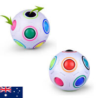 2PC Fidget Ball Toys Sensory Magic Rainbow Puzzle Ball Relief Hand Kids ADHD Toy
