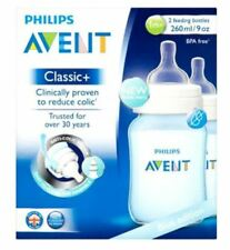 Philips Avent Blue Edition Classic+ 2 Feeding Bottles 1M+260Ml - Pack of 2
