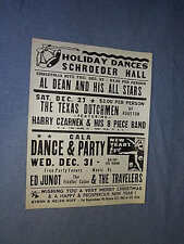COLORCRAFT 1975 SCHROEDER HALL HOLIDAY DANCES POSTER Harry Czarnek ED JUNOT