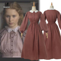 Women Civil War Victorian Dress Costume American Pioneer Colonial Prairie Dress