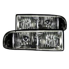 Anzo 111156 Black Halogen Clear Lens Crystal Headlights for 98-05 S-10 Blazer
