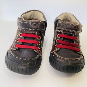 Stride Rite SRT QUEST Leather & Suede Boots TODDLER Boys Size 7.5