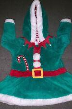 Girls 5-6 Years Fancy Dress Costume Pajamas Elf Hooded Dress Christmas Free Del