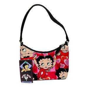 2004 Rare Betty Boop Small Handbag Love Hearts Shoulder Bag