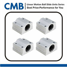 4pcs SC10UU Linear Motion Bearing Slide Unites 10mm for CNC SCS10UU Pillow Block