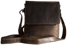 Greenwood Damentasche Herrentasche Umhängetasche Messenger Ledertasche braun 112