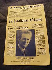 Partitur Die Tiroler Vienne Emile Van Herck