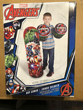 Marvel Avengers Bop Bag and Gloves Combo Set 36 inch Exercise Fun Hulk Iron Man