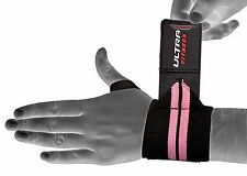Pink Ladies Weight Lifting Wrist Wraps  Supports Gym Training Straps bandage