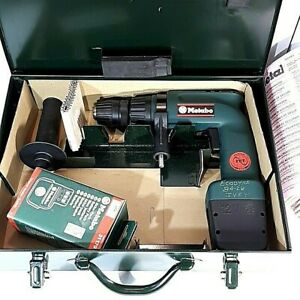 Vtg Metabo Cordless Drill 12V Made In Germany With Metal Case D-72622 Drill