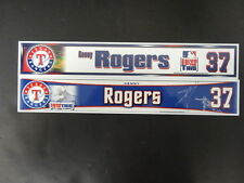 2 Kenny Rogers Texas Rangers Locker Room Nameplates