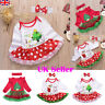 UK Baby Girl My First Christmas Romper Tutu Skirt Dress+Headband Outfits Clothes