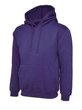 """Uneek Uc508 Olympic Hooded Sweatshirt Unisex Womens Mens Hoodie Jumper Sweater 2xl 48"""" Purple"""