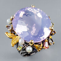 Lavender Amethyst Ring Silver 925 Sterling Top Color AA 33ct+ Size 8 /R128850