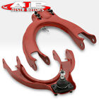 Red Jdm Upper Adjustable Camber Control Arm Kit Pair For 1988-1991 Civic Crx Ef