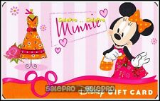 DISNEY 2010 MICKEY GIRLFRIEND MINNIE VALENTINE'S SHOPPING COLLECTIBLE GIFT CARD