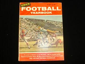 1956 True Magazine Football Yearbook EX
