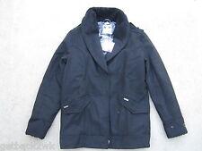 NEW* Billabong S Shawna Winter PEACOAT COAT JACKET TOP Wool Blend $100 Black