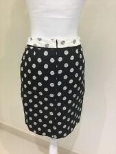 Business Pencil Skirt Black Geometric Size 8