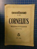 Edition Breitkopf Nr.2082 Cornelius Weihnachtslieder Noten Klavier Stimme H10234