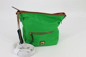 Dooney & Bourke Wayfarer Nylon Small Hobo Crossbody Bag Purse Kelly Green
