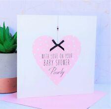 Personalised Handmade Baby Shower Card