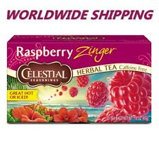 Celestial Seasonings Raspberry Zinger Herbal Tea Caffeine Free 20 CT WORLD SHIP