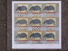 WILLEMIEN STEVENS TEXTILE DESIGN PIG NUMBERED 4/595 LIMITED EDITION SIGNED PRINT