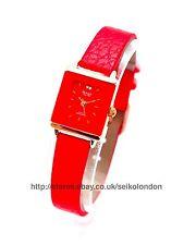 OMAX montre femmes, rouge cadran, rouge bracelet, (Or Rose) Seiko movt
